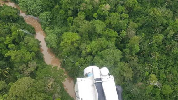 Lidar escaneando la selva brasileña. (Universidad de Exeter)