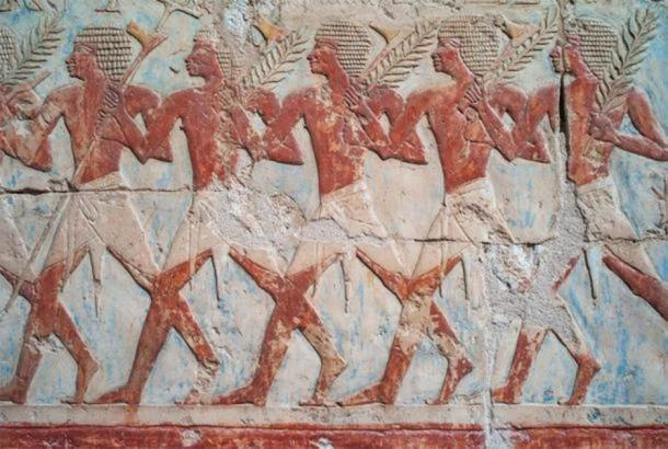 Famoso relieve de la expedición comercial de Hatshepsut a la Tierra de Punt. (Dietmar / Adobe Stock)