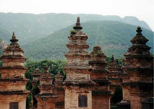 El bosque de la pagoda, a unos 300 metros al oeste del templo Shaolin en la provincia de Henan, China. (Wintran, CC BY 2.5)
