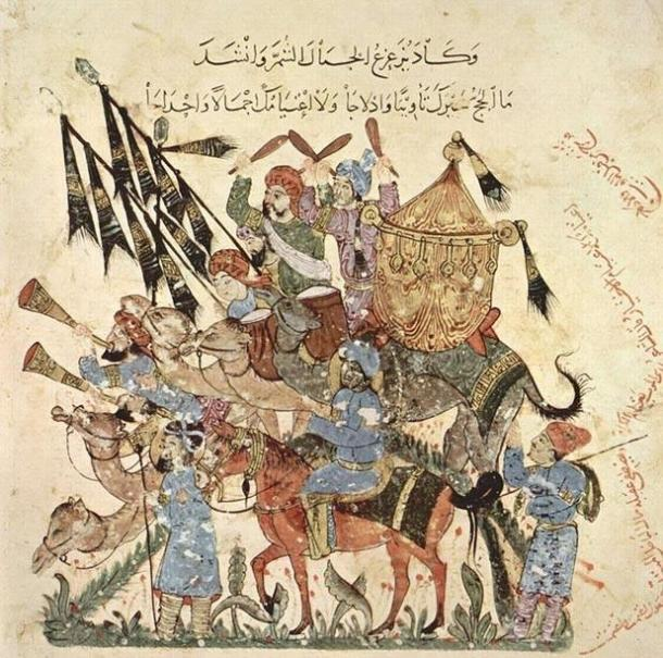 Durante el reinado de Harun al-Rashid, la ciudad de Bagdad comenzó a convertirse en un centro de conocimiento, cultura y comercio. 1236-1237 AD. (Dominio público)