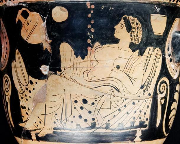 Dánae y una lluvia de oro, que representan al dios Zeus visitando e impregnando a Dánae. (Dominio publico)