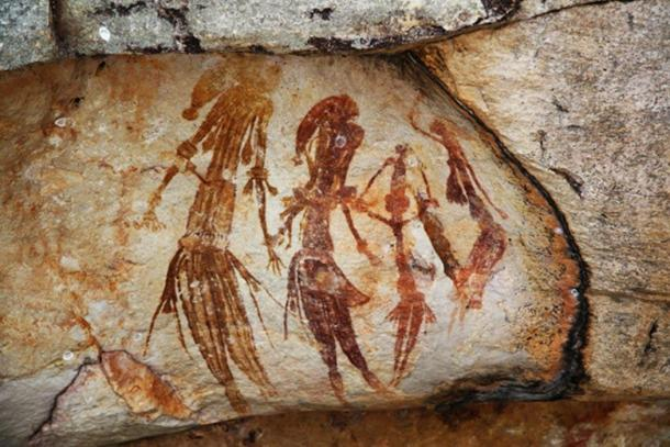 Arte rupestre australiano indígena. Pinturas rupestres de Bradshaw. (CC BY-SA 2.0)