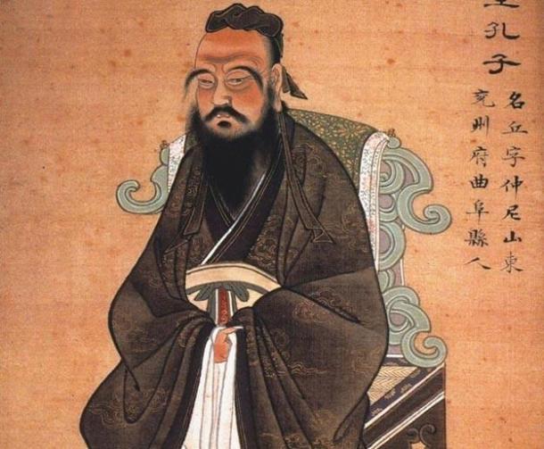 Pintura de Confucio. Circa 1770. (Dominio público)
