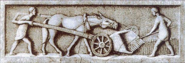 La agricultura siguió siendo central para la economía romana a lo largo de su historia. (Dominio publico)