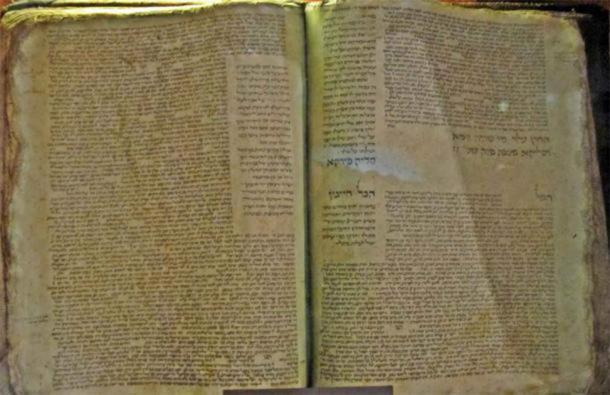 Manuscrito del Talmud babilónico copiado por Solomon ben Samson, Francia, 1342 d.C. (Botella de refresco / CC BY-SA 3.0)