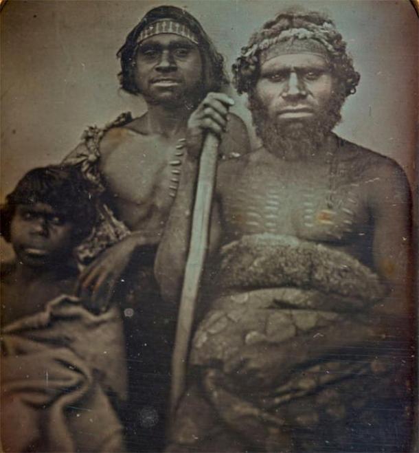 Koori Originals fotografiado por Douglas T. Kilburn alrededor de 1847 en Victoria, Australia. Sus características son comparables con las de la reconstrucción de Denisovan de Carmel y Gokhman. (Imagen: Galería Nacional de Victiria / Dominio Público)