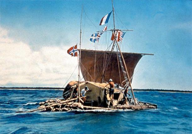 La expedición de Kon-Tiki a través del Océano Pacífico en balsa de madera de balsa (1947). (cesar harada /CC BY NC SA 2.0)