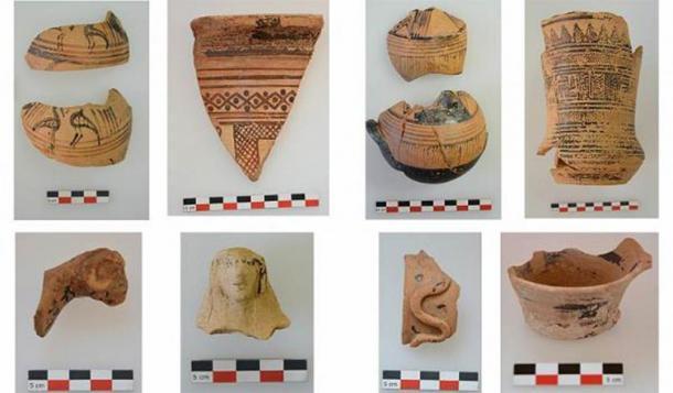 Cerámica geométrica y arcaica del santuario. (AMNA / Ministerio de Cultura griego)