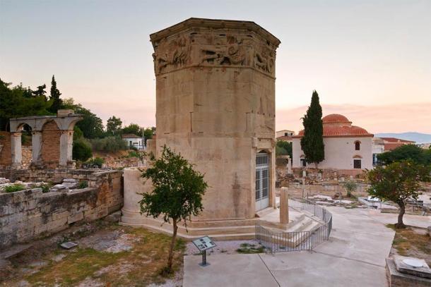 Restos del Ágora Romana y la Torre de los Vientos en Atenas, Grecia. (milangonda / Adobe Stock)