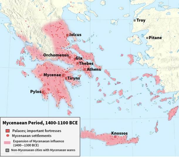 El mundo micénico se expandió hacia Oriente. (CC BY-SA 3.0)