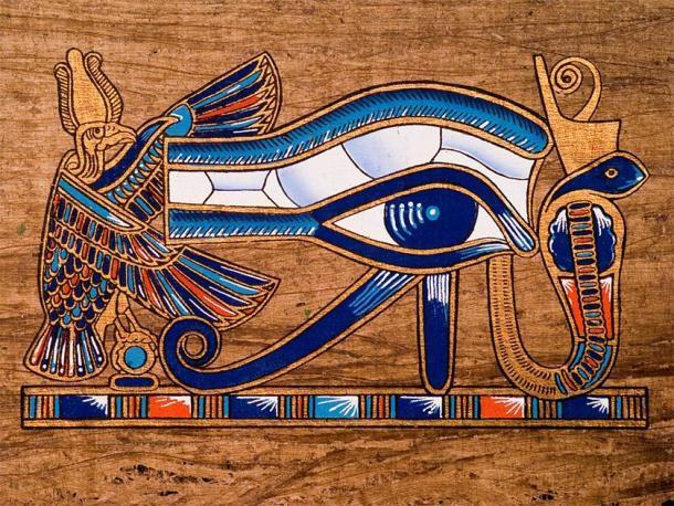El famoso ojo de Horus pintado en una pieza de papiro (José Ignacio Soto / Adobe Stock)