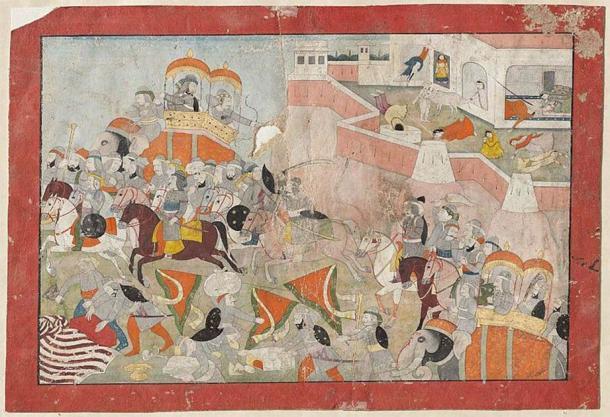 Se dice que las mujeres de la familia real Chauhan realizaron jauhar después del asedio de Ranthambore (1301) cuando el fuerte cayó en manos del sultán Ala ud din (dominio público)