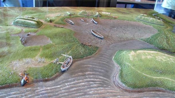 Modelo de asentamiento vikingo en el museo L'Anse aux Meadows de Terranova. (Torbenbrinker / CC BY-SA 3.0)