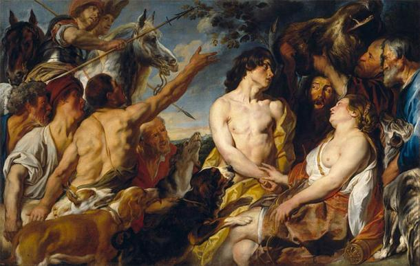 Cuadro de Jacob Jordaens que muestra a la diosa griega Atalanta, que a menudo se pinta equipada con un arco, una lanza y perros. (Dominio público)