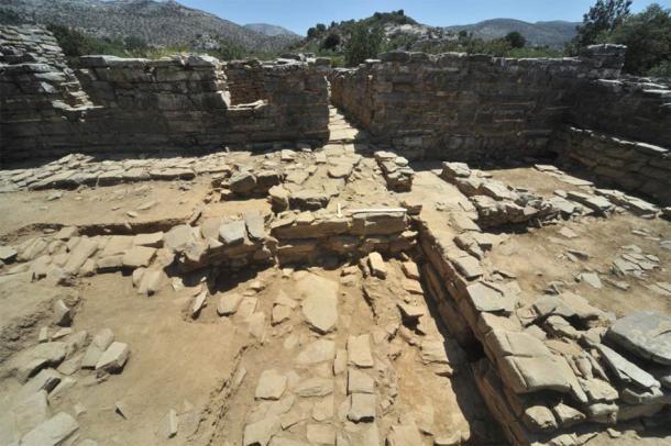 Área 68, que se encuentra en la entrada norte del edificio Central donde se ha descubierto un complejo de muros. (AIA)