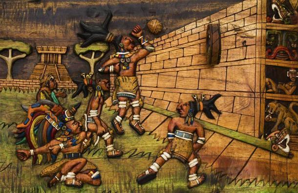 Representación del antiguo juego de pelota mesoamericano que se jugaba en el Gran Juego de Pelota de Chichén Itzá.(pop_gino /Adobe Stock)