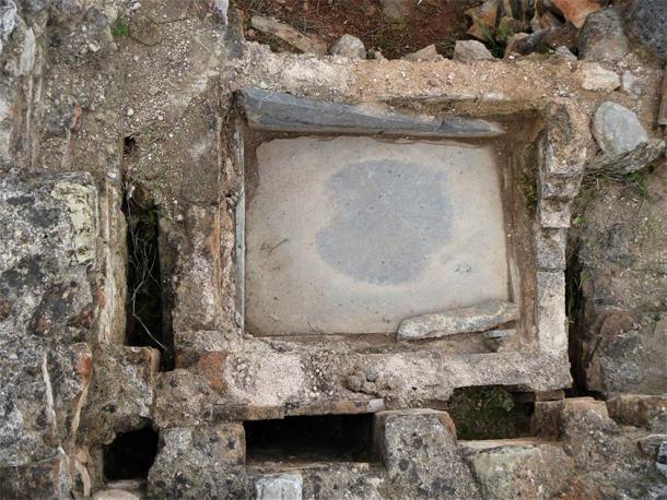 Baño romano de la Antigüedad tardía (Imagen: Ephorate of Antiquities of East Attica)