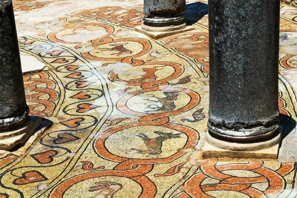 Suelos de mosaico antiguo de Butrint, Albania. Sitio del Patrimonio Mundial de la UNESCO (Irina / Adobe Stock)