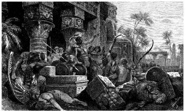 Los invasores hicsos en el antiguo Egipto, que finalmente fueron expulsados de Egipto a Iberia, pero perseguidos por los egipcios. (Erica Guilane-Nachez / Adobe Stock)
