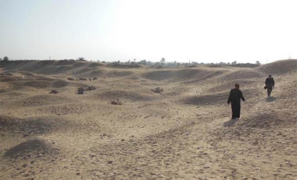 El sitio del laberinto egipcio hoy. Crédito: Andrew Collins