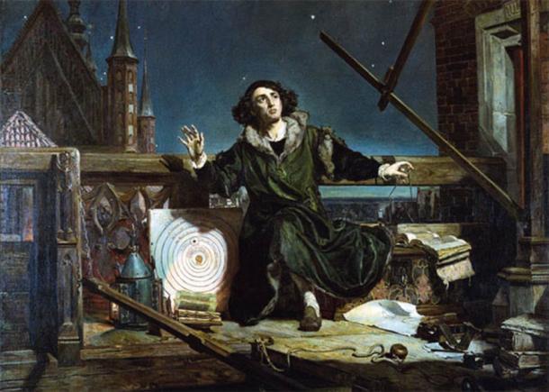 Nicolás Copérnico observando los cielos en esta pintura del siglo XIX d.C. (Jan Matejko / Dominio público)