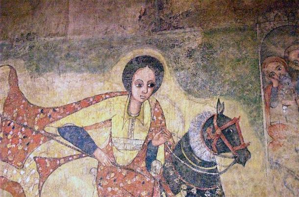 Pintura del siglo XVII d.C. de la famosa reina de Saba de una iglesia en Lalibela, Etiopía. (Magnus Manske / CC BY SA 2.0)