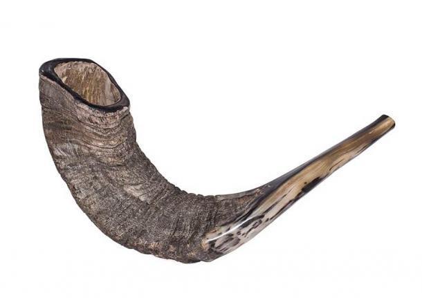 Un cuerno de carnero para el ritual shofar. (Zachi Evenor / CC BY 3.0)