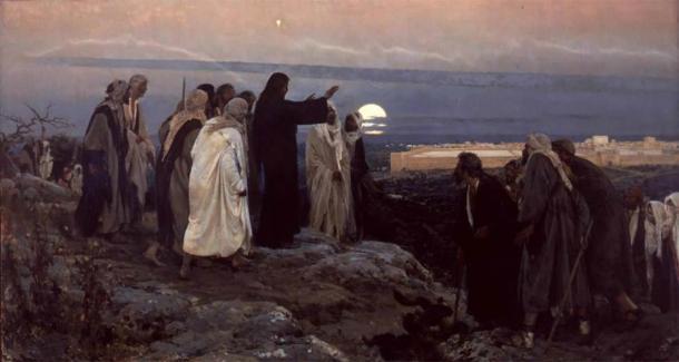 """""""Jesús llora por Jerusalén"""" de Enrique Simonet (1892). (Dominio público)"""