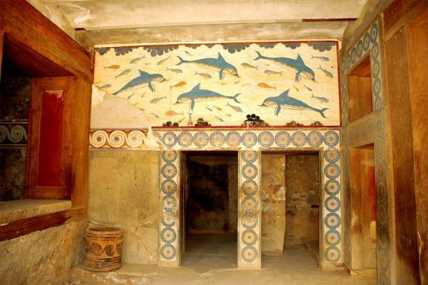 El palacio minoico de Knossos, que ha sobrevivido a las edades en condiciones increíbles en comparación con los restos en su mayoría de piedra en el complejo Zominthos cercano. Pero en algún momento, las paredes de Zominthos habrían sido tan coloridas e impresionantes. (G Da / CC BY-SA 3.0)