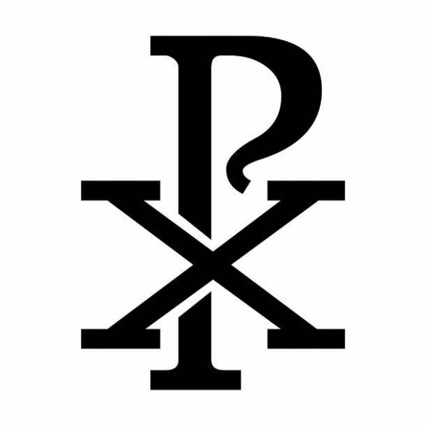 El símbolo cristiano Chi Rho que se encuentra en la puerta alquímica de Rivodutri en el centro de Italia. (luisrftc / Adobe Stock)