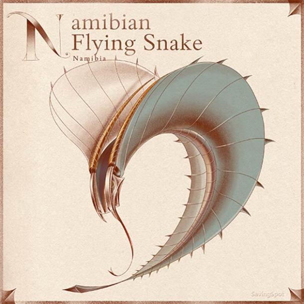La serpiente voladora de Namibia. (Laimute Varkalaite / SavingSpot)