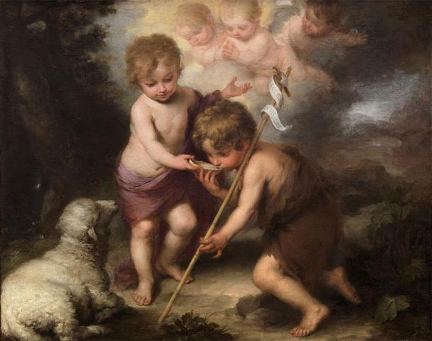 Los Santos Niños: Juan el Bautista (derecha) con el niño Jesús. (Bartolomé Esteban Murillo (1670) / Dominio público)