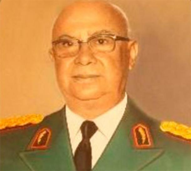 El comandante Samaniego de Paraguay retrató en 1948 al oficial militar que ayudó a Fritz Berger en su investigación de los vikingos en América del Sur. (Dominio publico)