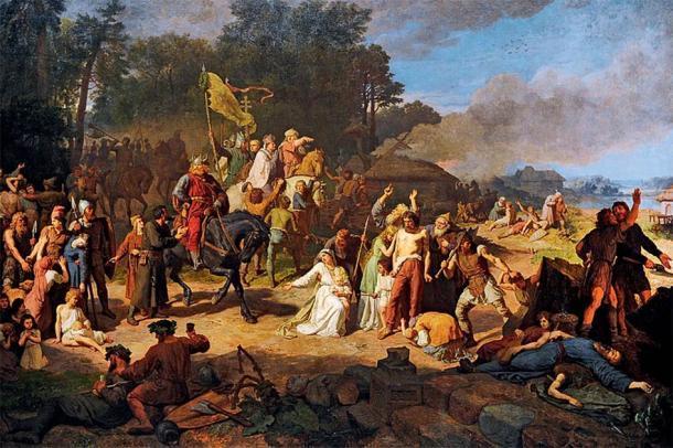 La Cruzada Wendish fue una importante campaña militar, realizada por el Reino de Alemania y el Sacro Imperio Romano Germánico, dirigida contra los eslavos polacos (llamados los Wend por los alemanes). (Dominio público)