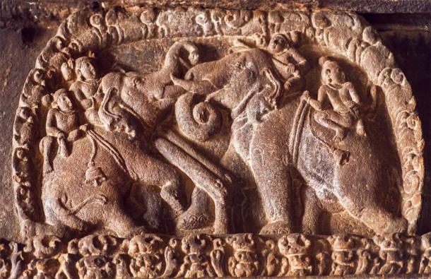 Después de derrotar a Harsha en la batalla, los cronistas glorificaron al magnífico ejército del ejército de Pulakesi II. Se dijo que sus invencibles elefantes estaban intoxicados antes de ser lanzados a la batalla. (radiokafka / Adobe Stock)