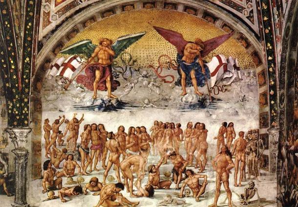 """""""Resurrección de la carne"""" (hacia 1499-1502) de Luca Signorelli. (Dominio público)"""