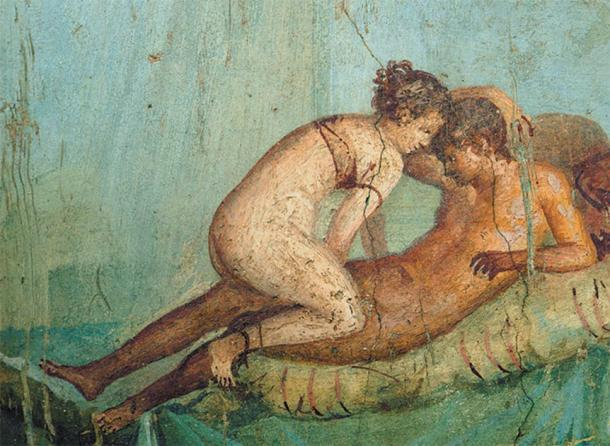 Las prostitutas romanas de casta inferior solían estar desnudas. (Dominio público)