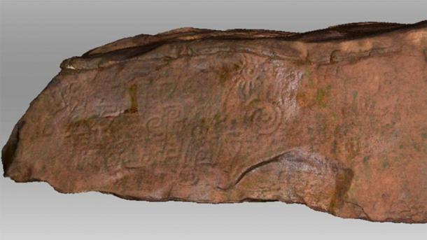 El escaneo anterior del monolito peruano, pero ahora visto en su color verdadero. (Daniel Fernández-Dávila / Exact Metrology)