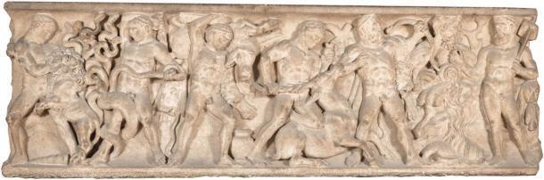 Los sarcófagos romanos de Hércules que ahora forman parte de la colección de la Galería Uffizi en Florencia, Italia. (Galería de los Uffizi)