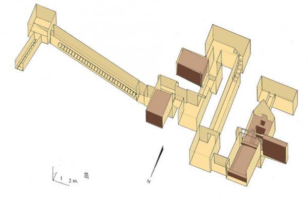 Subestructura interna de la pirámide Mazghuna Norte construida para Sobekneferu. (Franck Monnier / CC BY 2.5)