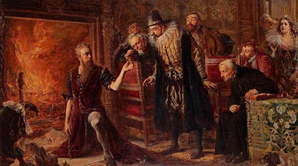 El alquimista medieval más famoso de Polonia, Michael Sendivogius, fue pionero en el trabajo del metal después del abandono de Poniaty Wielkie, donde se encontró el tesoro reciente de objetos medievales. (Jan Matejko / Dominio público)