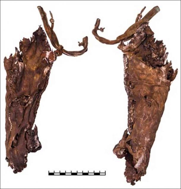 La Amazonía escita tenía un carcaj, hecho de cuero y piel de caballo, sujeto al cinturón. (Imágenes: A.Yu. Makeeva, V.S. Busova)