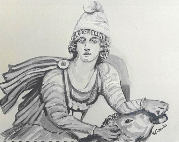 Representación moderna de Mitra y el toro. (Imagen cortesía de Janet Callender)