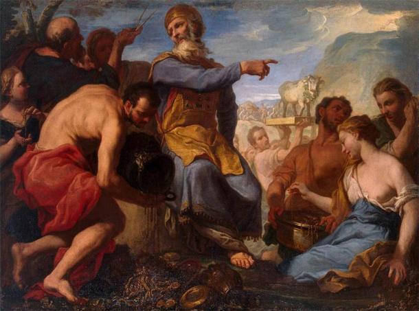 'Adoración del Becerro de Oro' de Antonio Molinari. (Dominio público)