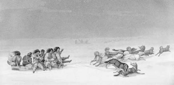 Existe evidencia significativa de mujeres criando y adiestrando perros en la historia antigua para ayudar en la caza y transporte de suministros. (Dominio público)