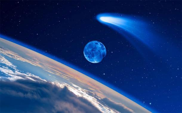 El cometa de Hayley no era la estrella de Belén, pero algún otro cometa podría haberlo sido. (muratart / Adobe Stock)