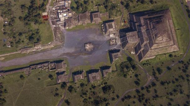 Vista aérea de Teotihuacán. (Gian / Adobe Stock)