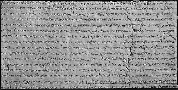 Algunas fuentes creen que la escritura Pahlavi, que se muestra aquí, inspiró el alfabeto armenio. (PawełMM / Dominio público)
