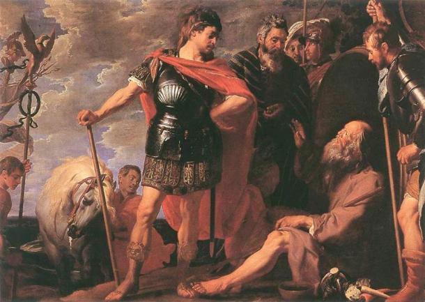 """""""Alexander and Diogenes"""" (1625-1630) por Gaspar de Crayer. (Dominio publico)"""