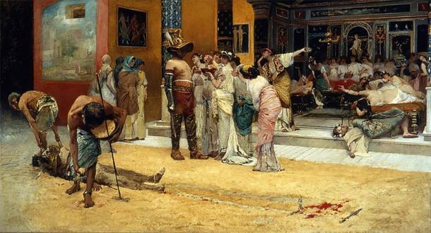 Los gladiadores jubilados a menudo eran contratados para actuar en ceremonias especiales o como prostitutos para clientes adinerados. (Dominio público)
